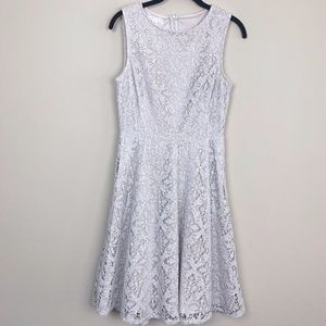 London Times Lace Fit and Flare Dress 6